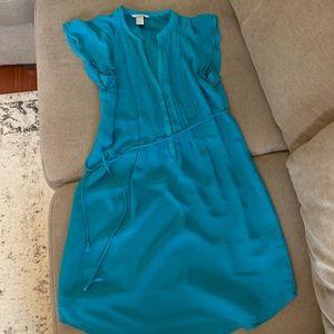 H&M dress, teal blue, size women's medium